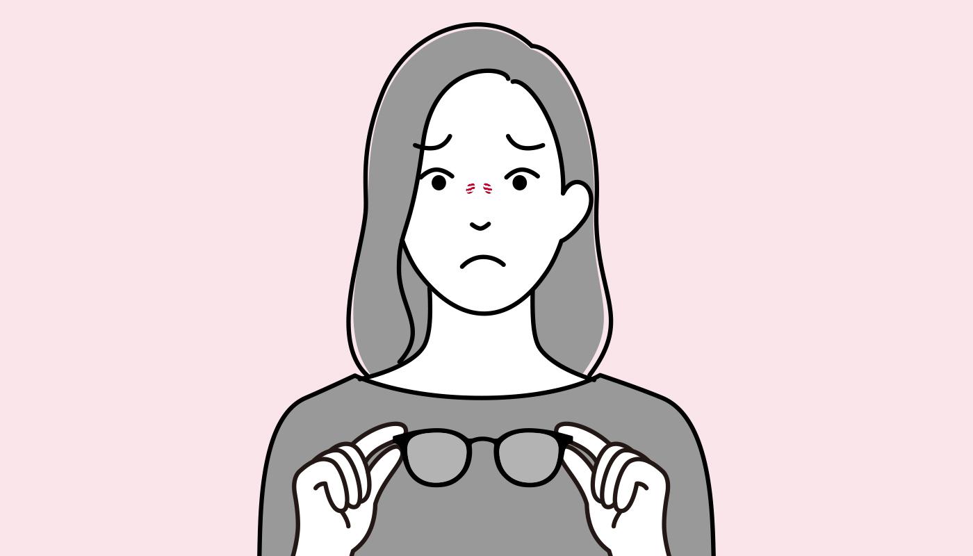 メガネの跡がつく原因や対処法とは?放置しないで対処しよう | メガネ通販のオンデーズオンラインストア (眼鏡・めがね)