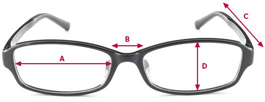 メガネのサイズガイド