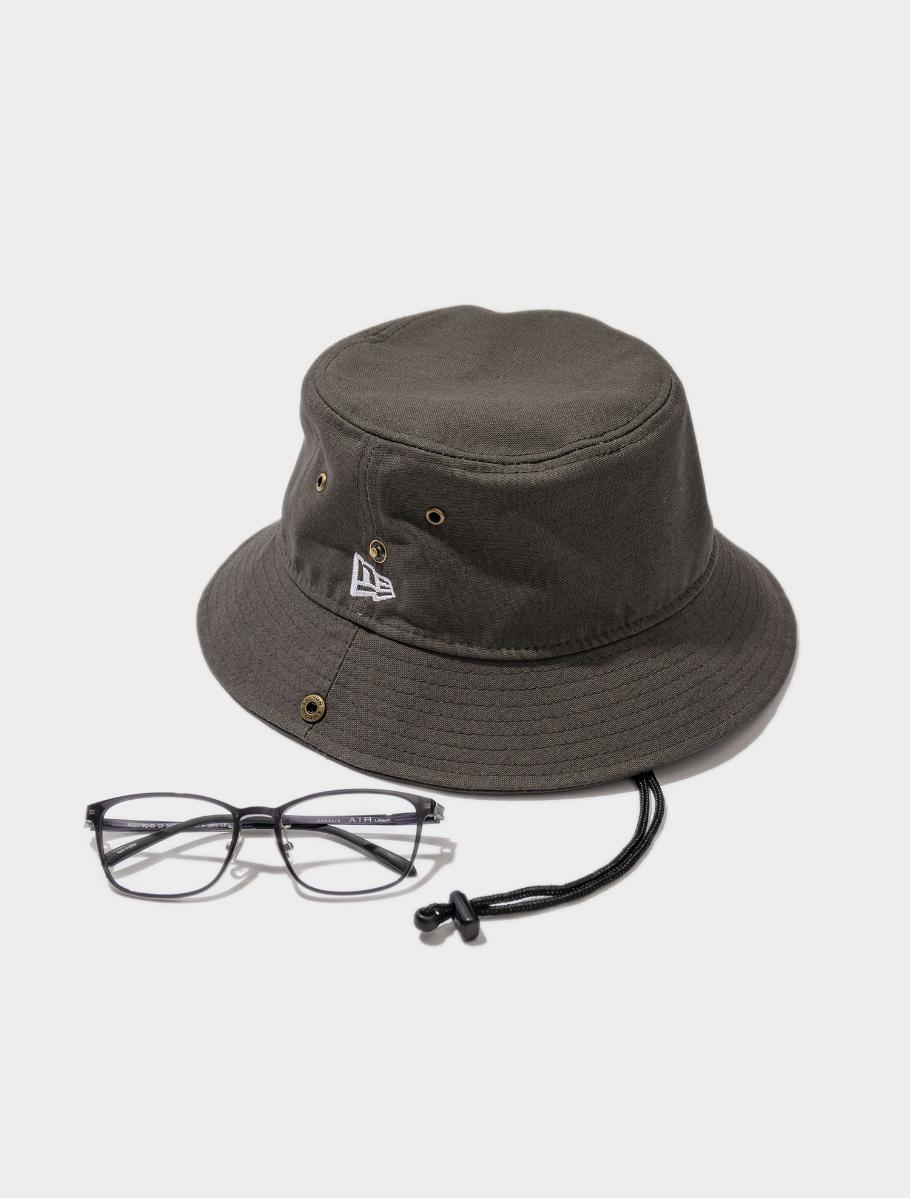 バケット01 ダックコットン アゴ紐付(ヘッドウェア/ハット/バケットハット) × AU2079Q-0S C3(メガネ/眼鏡/めがね) おすすめの組み合わせ
