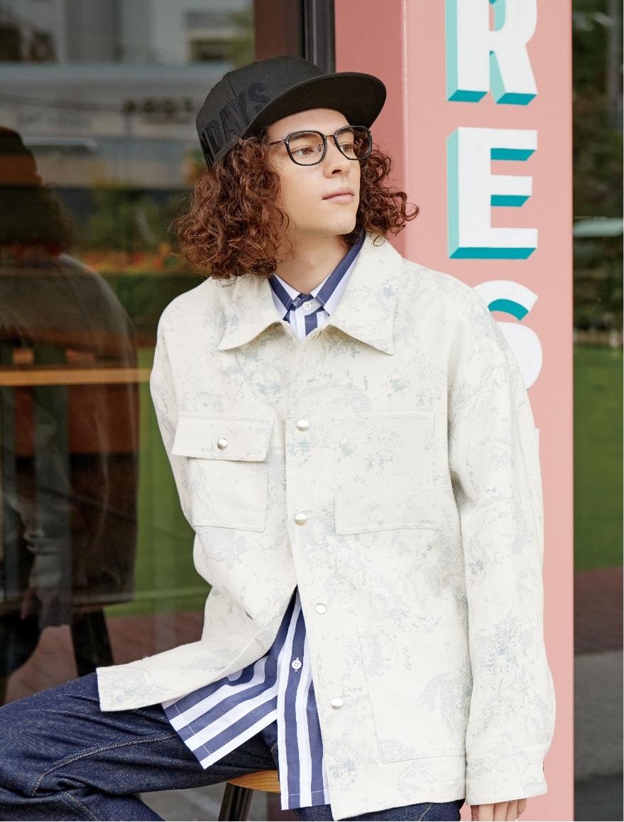 NEW ERA® COLLABORATION CAP(ヘッドウェア/ハット/キャップ) × JD2041B-0A C1(メガネ/眼鏡/めがね) 着用スタイル