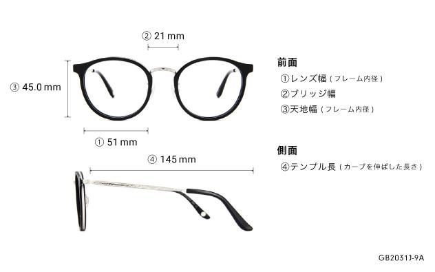 Eyeglasses Graph Belle GB2031J-9A  ブラック