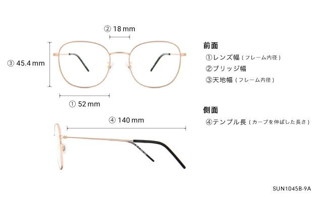 Sunglasses OWNDAYS SUN1045B-9A  ゴールド