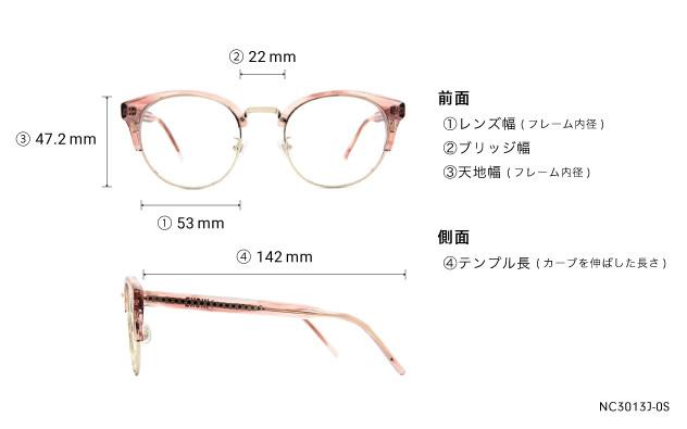 Eyeglasses +NICHE NC3013J-0S  クリア