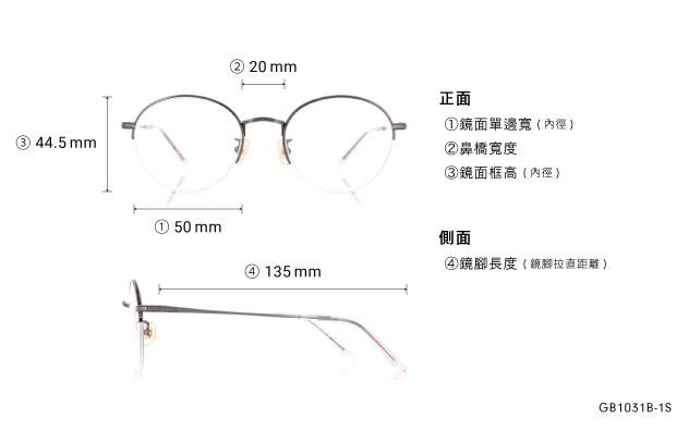 Eyeglasses Graph Belle GB1031B-1S  Gun