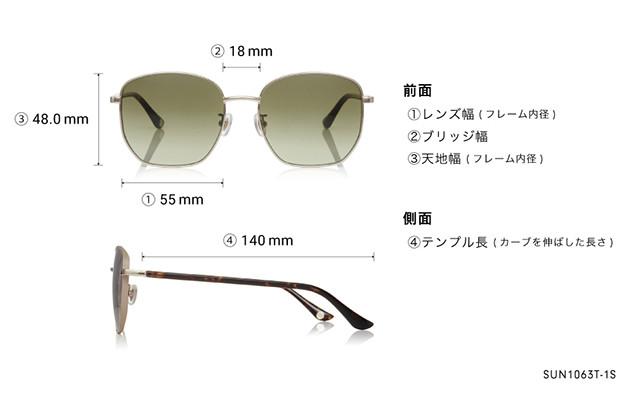 Sunglasses OWNDAYS SUN1063T-1S  ゴールド