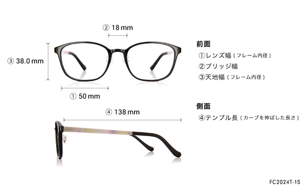 Eyeglasses FUWA CELLU FC2024T-1S  ブラック