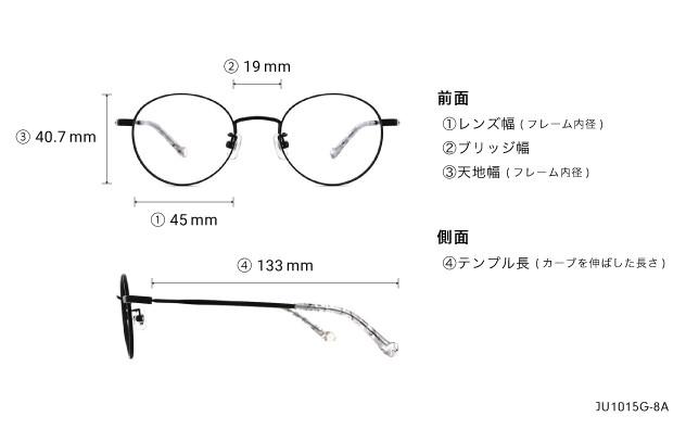 メガネ Junni JU1015G-8A  ブラック