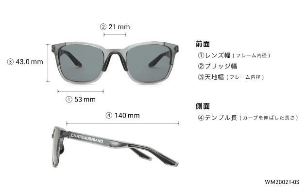 Sunglasses CHATEAUBRIAND - OWNDAYS × WAGYUMAFIA WM2002T-0S  クリアグレー