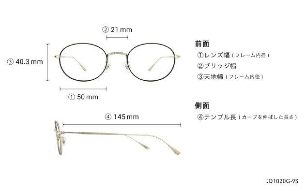 Eyeglasses John Dillinger JD1020G-9S  ブラック