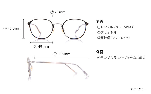 Eyeglasses Graph Belle GB1030B-1S  ブラック
