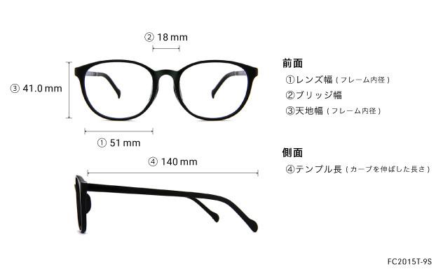 Eyeglasses FUWA CELLU FC2015T-9S  ブラック