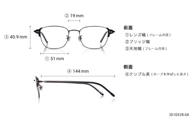Eyeglasses John Dillinger JD1032B-0A  ガン