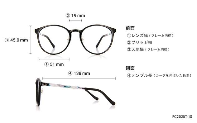 Eyeglasses FUWA CELLU FC2025T-1S  ブラック