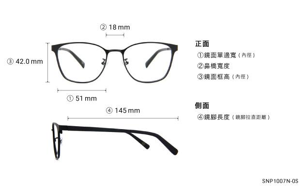 Eyeglasses OWNDAYS SNAP SNP1007N-0S  Mat Black