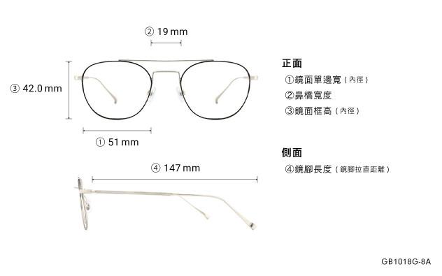Eyeglasses Graph Belle GB1018G-8A  Black