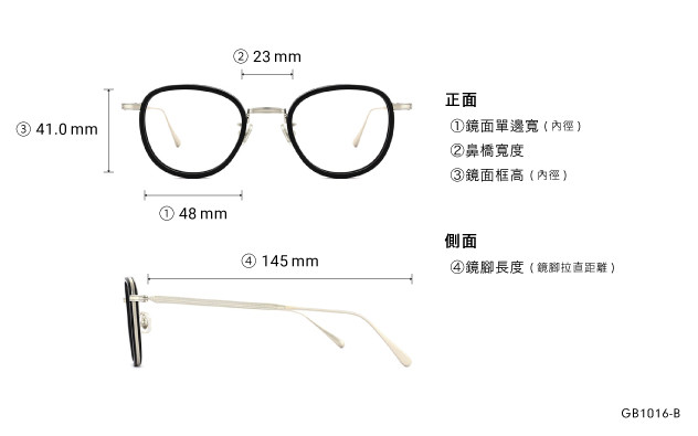 Eyeglasses Graph Belle GB1016-B  Black