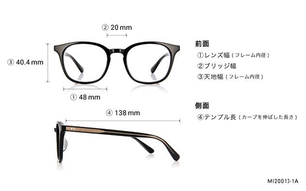Eyeglasses mi-mollet × OWNDAYS MI2001J-1A  ブラック