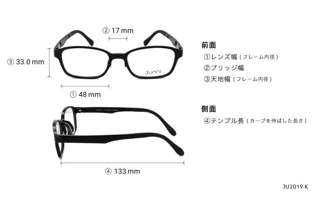 Eyeglasses Junni JU2019-K  ブラック