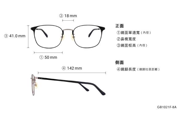 Eyeglasses Graph Belle GB1021F-8A  Black