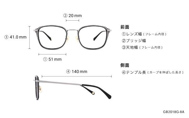 Eyeglasses Graph Belle GB2018G-8A  ブラック