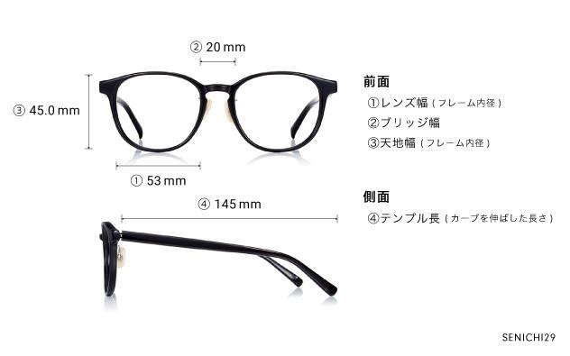 Eyeglasses 千一作 SENICHI29  ブラック