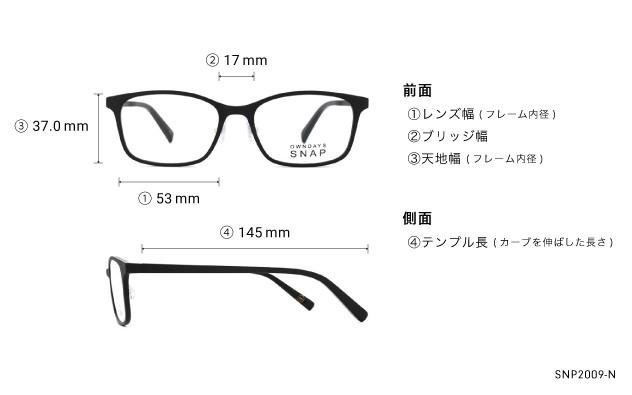 Eyeglasses OWNDAYS SNAP SNP2009-N  ブラック