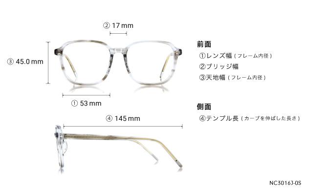 Eyeglasses +NICHE NC3016J-0S  クリア