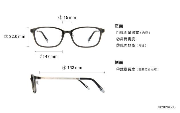 Eyeglasses Junni JU2028K-0S  Dark grey