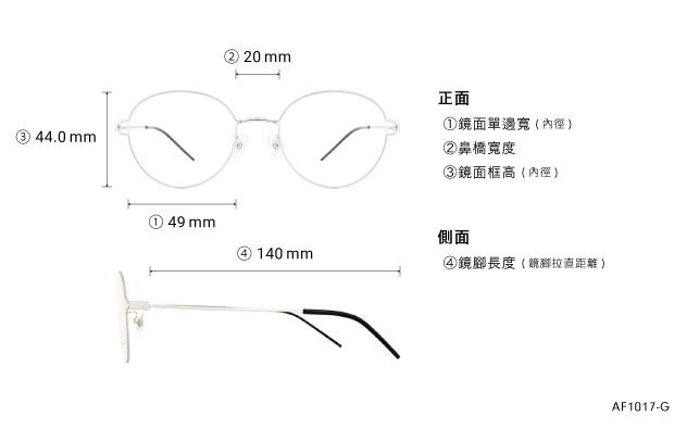 Eyeglasses AIR FIT AF1017-G  Silver