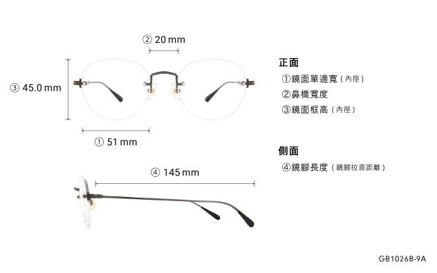 Eyeglasses Graph Belle GB1026B-9A  Gun