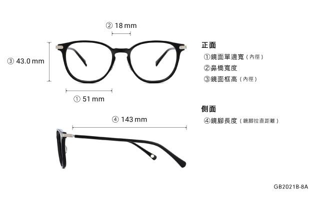 Eyeglasses Graph Belle GB2021B-8A  Black