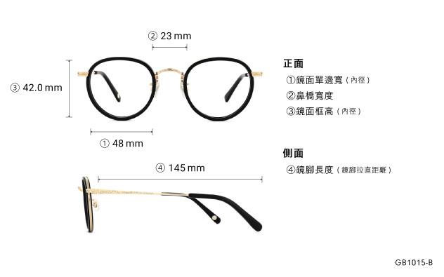 Eyeglasses Graph Belle GB1015-B  Black