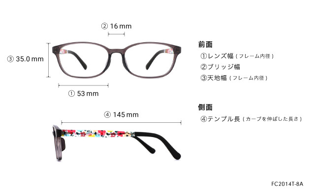 Eyeglasses FUWA CELLU FC2014T-8A  グレー