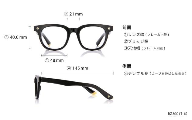 Eyeglasses ReZARD × OWNDAYS RZ2001T-1S  ブラック