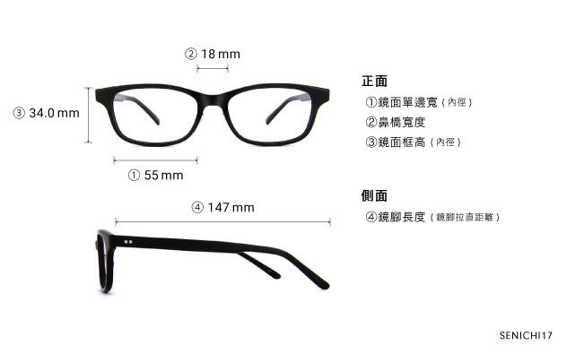 Eyeglasses 千一作 SENICHI17  Black