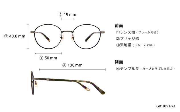 Eyeglasses Graph Belle GB1027T-9A  ブラック