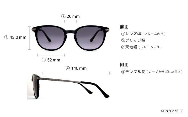 Sunglasses OWNDAYS SUN2087B-0S  ブラック