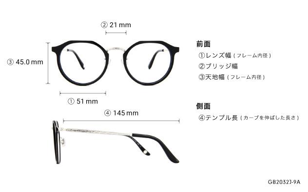 Eyeglasses Graph Belle GB2032J-9A  ブラック