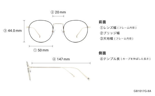Eyeglasses Graph Belle GB1017G-8A  ブラック