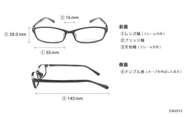 Eyeglasses OWNDAYS ON2015  ブラック