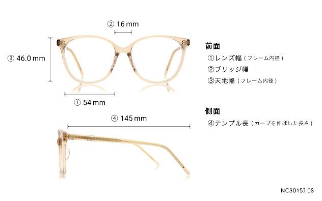 Eyeglasses +NICHE NC3015J-0S  Clear