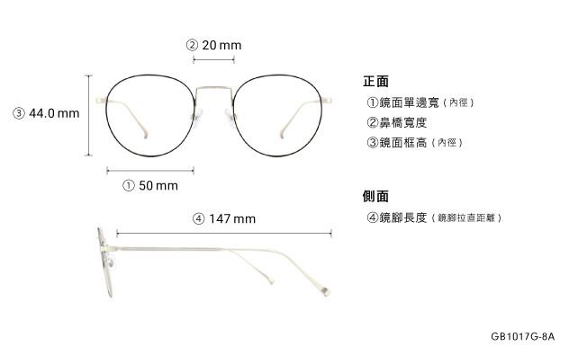 Eyeglasses Graph Belle GB1017G-8A  Black