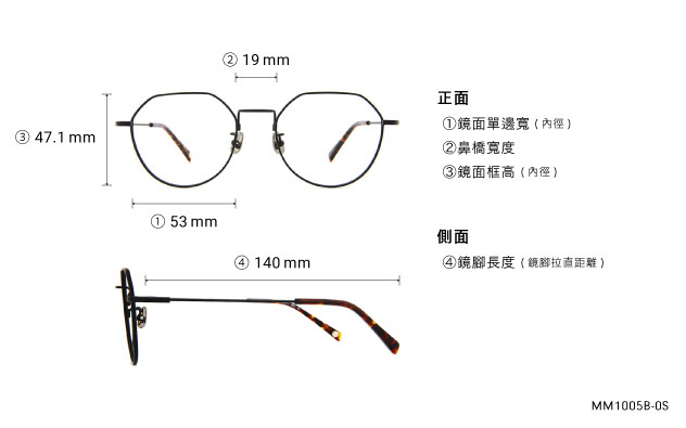 Eyeglasses Memory Metal MM1005B-0S  Gold