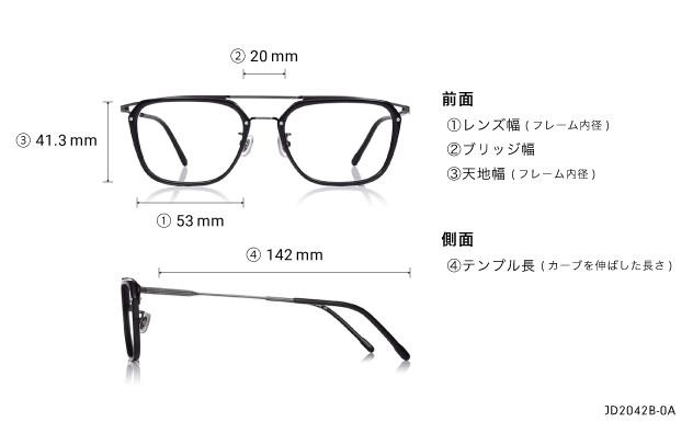 Eyeglasses John Dillinger JD2042B-0A  ブラック