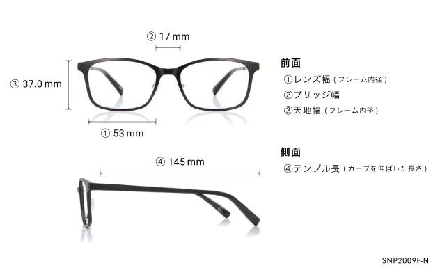 Eyeglasses OWNDAYS SNAP SNP2009F-N  マットブラック