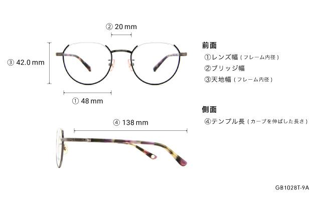 Eyeglasses Graph Belle GB1028T-9A  ブラック