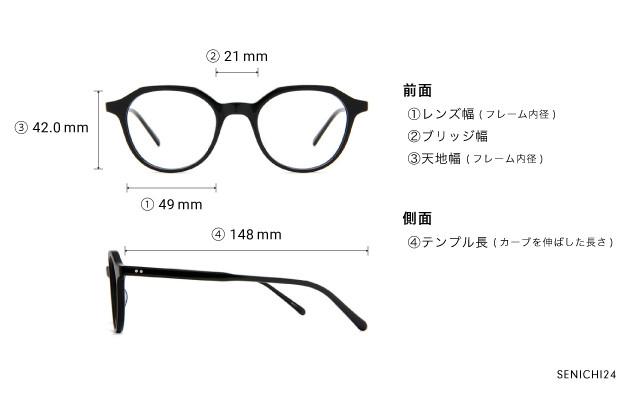 メガネ 千一作 SENICHI24  ブラック