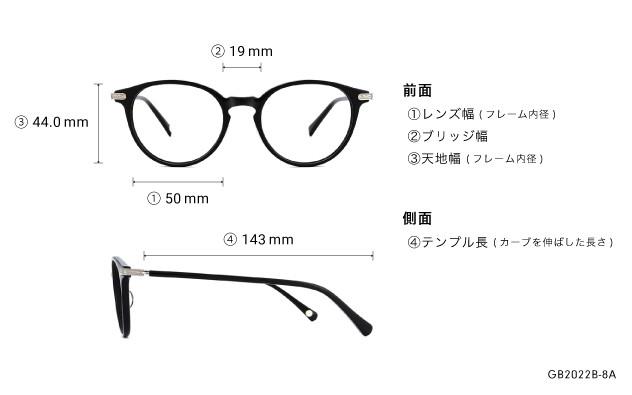 Eyeglasses Graph Belle GB2022B-8A  ブラック