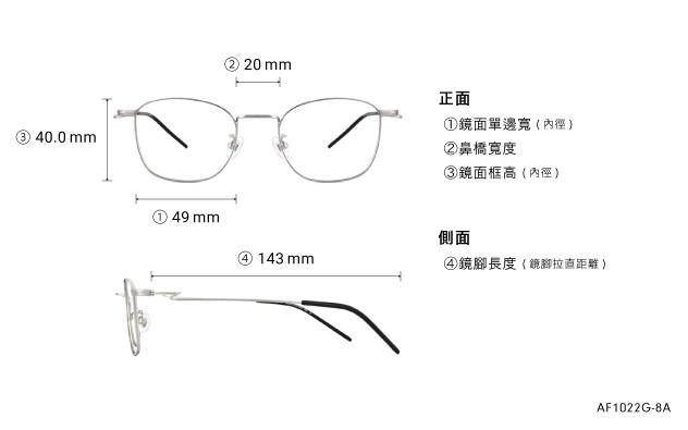 Eyeglasses AIR FIT AF1022G-8A  Silver
