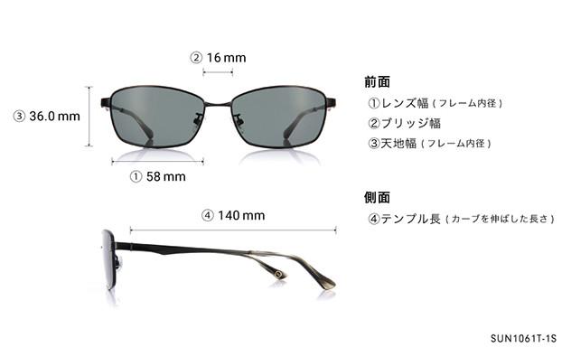 Sunglasses OWNDAYS SUN1061T-1S  ブラック